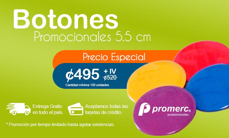 Botones Publicitarios 5.5 cm Promerc