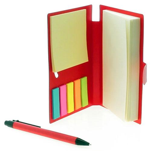 Bloc de notas y bolígrafo